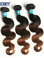 3 PC / porción 3t extensiones de pelo onda del cuerpo pelo virginal brasileño del 100% sin procesar virginal 1b / 4/30 # del pelo humano