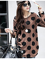 Maternity Round Neck Flower T-shirt , Polyester Long Sleeve