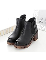 Women's Shoes  Chunky Heel Riding Boots Boots Casual Black