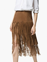 Women's Hot New Vintage Vogue Tassels Skirt