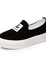 Women's Shoes Fabric Flat Heel Comfort Loafers Casual Black / Red / White