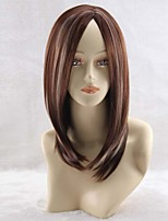 Europe And The United States AMAZON Brown Highlights The Long Straight Hair Animation COS Wig