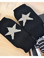 Women Winter Knitwear Fingerless Pentagram Warm Gloves , Casual / Cute