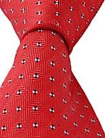 Dots Pattern Red Jacquard Men Business Suit Necktie Tie