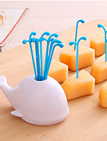 Lovely Fruit Forks Sprinkler Beluga Whale Animal Suit Creative Snack fork