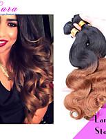 ombre extensões de cabelo virgem brasileiro do cabelo onda do corpo de dois tons 1b / 30 cor ombre humano tecer cabelo 10