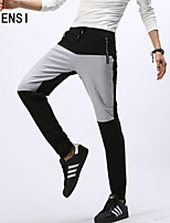 Men fall feet sports Pants Slacks slim running knitted pants men youth Winter stretch Wei Chao
