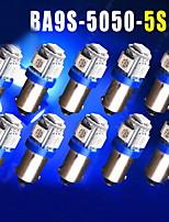 10st ultra blauwe t11 BA9S 5050 5-smd auto LED-lampen lampen T4W 3886x H6W 363