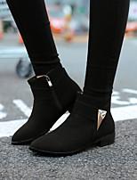 Chaussures Femme - Extérieure / Bureau & Travail / Décontracté - Noir / Jaune / Gris / Beige - Talon Bas - Bout Arrondi - Bottes -