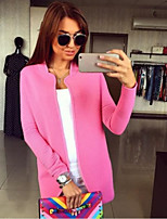 Women's Casual Solid Long Sleeve Cardigan Coat