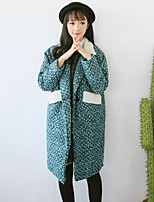 Damen Mantel  -  Leger Langarm Tweed / Wolle / Andere