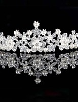 Europe And The United States  Wedding Accessories Hot Style Bride Pearl Diamond Crown Alloy