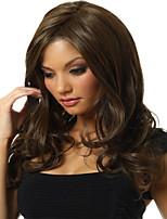 lunghezza lunghi capelli dell'onda naturale di alta qualità di colore della miscela senza cappuccio parrucca sintetica con botto lato
