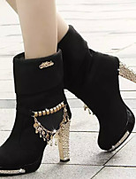 Women's Shoes New Arrival Europe Style Fashion Chunky Heel Comfort Boots Casual Black / Blue
