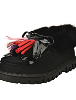 Zapatos de mujer - Tacón Plano - Comfort / Botines / Punta Redonda / Botas a la Moda - Botas - Casual - Semicuero - Negro / Rosa / Gris