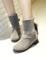Women's Shoes Leatherette Low Heel Snow Boots / Office & Career / Casual Black / Brown / Red / Beige