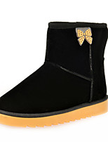 Women's Shoes Flat Heel Round Toe Boots Casual Black / Blue / Brown / Pink