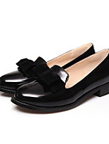 Women's Shoes Leatherette Low Heel Pointed Toe Loafers Outdoor / Casual Black / Blue / Red