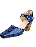Women's Shoes Chunky Heel Comfort / Square Toe Heels Outdoor / Office & Career / Dress Blue / Red / Silver / Gold