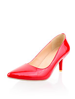 Women's Shoes Leatherette Stiletto Heel Heels Heels Outdoor / Casual Black / Red