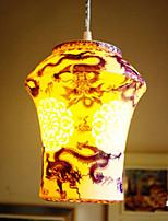 Retro Ceramic lamp lamp Entrance Stairs Blue Single Head Chandelier Creative H