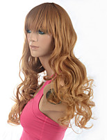 2015 Women Ombre Fashion Natural Wavy Janpanese Heat Resistant Synthetic Hair Wig M16273-#26 24
