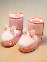 Girls' Shoes Dress / Casual Snow Boots / Fashion Boots Leatherette Boots Black / Pink / Red