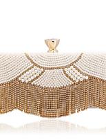 L.WEST® Women's Pearl Diamond Tassel Party/Evening Bag