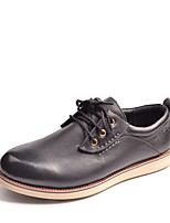 Men's Shoes Outdoor / Athletic / Casual Leather Oxfords Black / Brown / Burgundy