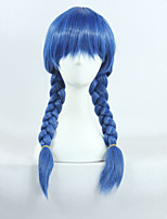 Food Wars Shokugeki No Soma Megumi Tadokoro Blue Long Braid Cosplay Wig