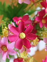Glass Flower Arranging Plastic Daisies Artificial Flowers