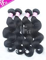 brasilianske hår 4pcs / lot kroppen bølge brazilian jomfru hår ubehandlet menneskehår forlengelse farge 1b