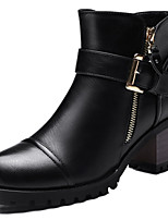 Women's Shoes Synthetic Chunky Heel Fashion Boots Boots Office & Career / Party & Evening / Casual Black / Gray