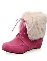 Zapatos de mujer - Tacón Plano - Botas de Nieve - Botas - Casual - Semicuero - Negro / Rosa / Beige
