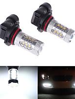 2Pcs HB4 6000K 9006 80W LED Car Headlight Fog Light Lamp Bulb Super Bright White