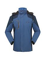 Wandern Softshell Jacken Unisex Wasserdicht / warm halten / Windundurchlässig / tragbar Winter TerylenGrün / Rot / Dunkelgrau / Blau /
