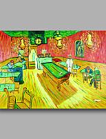 peinture à l'huile abstraite toile van peint à la main gogh table de café repro pétrole lourd déco maison un panneau