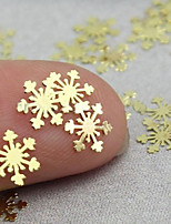 Fashion 100PCS 3D Golden Nail Art Snowflake Decal Metal Sticker Decoration Tool 6*6MM