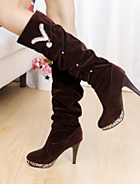 Women's New Arrival Diamond Shoes FrostedStiletto Heel Comfort Boots Dress / Casual Black / Brown