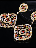 Gorgeous Alloy with Colorful Crystals Rhinestones Fashion Earrings Party Earrings (with Gift Box)