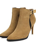 Women's Shoes Suede Stiletto Heel Fashion Boots Boots Dress / Casual Black / Brown