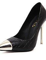 Women's Shoes Synthetic Stiletto Heel Heels Heels Wedding/Party & Evening/Dress/Casual Black/White