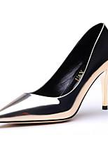 Women's Shoes Synthetic Stiletto Heel Heels / Comfort Heels Party & Evening / Dress / Casual Black / Silver / Gold