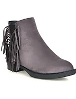 Women's Shoes Leatherette Chunky Heel Snow Boots / Combat Boots Boots Casual Black / Gray