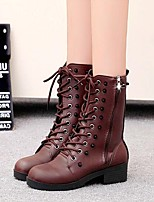Women's Shoes Amir New Fashion Hot Sale Low Heel Fashion Boots / Comfort Boots Dress / Casual Black / Brown