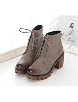 Women's Shoes Chunky Heel Combat Boots Boots Casual Black / Khaki