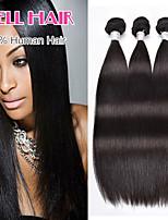 Cheap Brazilian Virgin Hair Straight Human Hair 3 Bundles 8'-30' Inches Natural Black
