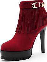 Chaussures Femme - Habillé / Décontracté / Soirée & Evénement - Noir / Rouge - Talon Aiguille - Talons / Bottine / Bottes à la Mode -