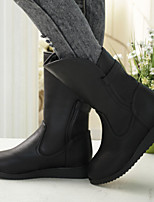 Women's Shoes All Match Fashion Flat Heel Comfort Boots Dress / Casual Black