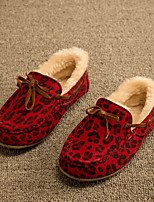 Girls' Shoes Wedding / Dress / Casual Moccasin / Comfort Leatherette Flats Yellow / Red